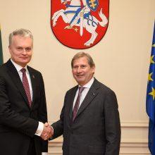 G. Nausėda eurokomisarui pristatė Lietuvos pastabas dėl ES biudžeto