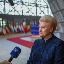 """D. Grybauskaitė ragina Londoną konstruktyviai panaudoti papildomą laiką """"Brexit"""""""