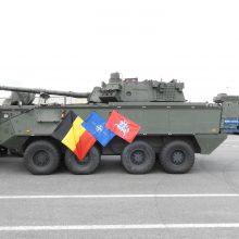 Belgijos kariuomenės konvojus pasipuošė Vyčiu