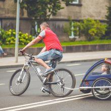 Geriausi sostinės dviračių takai pasivažinėjimui su šeima