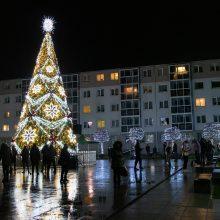Jonava uždegė Kalėdas: įžiebta miesto eglė ir eglučių miestelis