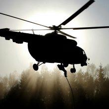 Turto banko aukcione parduodamas buvęs pasieniečių sraigtasparnis