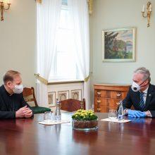 Prezidentas su arkivyskupu G. Grušu aptarė pasirengimą švęsti Velykas