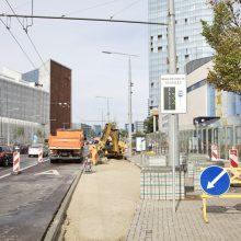 Europos aikštės stotelės rekonstrukcija: daugiau erdvės pėstiesiems ir dviratininkams