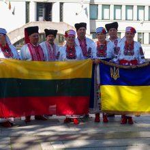 Kauno ukrainiečiai Nepriklausomybės dieną šventė spalvingai