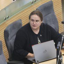 A. Širinskienė: komisija darbo laiku negali baigti dėl išorės trikdžių