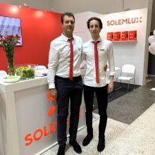 """""""Solemlux"""" direktorius R. Musulas su sūnumi Dovydu"""