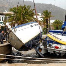 Ispanijoje audros aukų skaičius išaugo iki devynių
