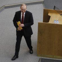 Didėja protestas prieš V. Putino pasilikimą valdžioje