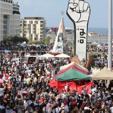 Libane po pražūtingo sprogimo surengtas masinis protestas prieš valdžią