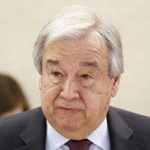 A. Guterresas: bendradarbiaukime dėl klimato, antraip – esame pasmerkti