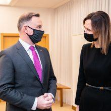 Seimo pirmininkė: jautėsi prezidento parama Lenkijai dėl teisės viršenybės ir abortų klausimų
