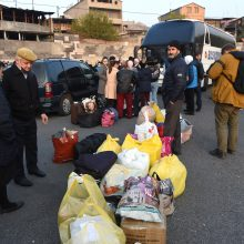 Kalnų Karabachas: daugiau kaip pusė Stepanakerto gyventojų sugrįžo į namus