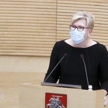 I. Šimonytė: pritrūkus lėšų koronaviruso suvaldymui būtų peržiūrimas biudžetas