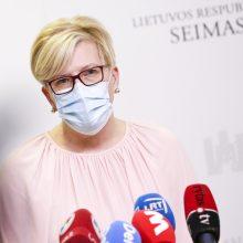 Premjerė: Seimui grįžus į tiesioginį darbą parlamentarų privalomas testavimas būtų prasmingas