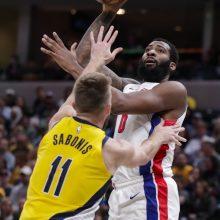 """D. Sabonis prie """"Pacers"""" pergalės prisidėjo dvigubu dubliu"""