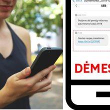 SEB įspėja apie sukčių platinamas melagingas SMS žinutes