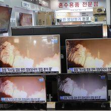 Šiaurės Korėja paleido dvi numanomas balistines raketas
