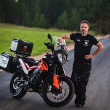 Tikslas pasiektas: motociklininkas K. Mieliauskas apkeliavo pasaulį