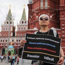 Paminėtos penktosios ukrainiečių režisieriaus įkalinimo Rusijoje metinės