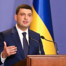 Ukrainos premjeras paskelbė apie savo atsistatydinimą