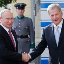 V. Putinas pradėjo darbo vizitą Suomijoje