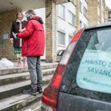 Vilniuje per karantiną vienišiems senjorams savanoriai pristatys maisto