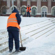 Žiemiškos sąlygos kelia pavojus darbo vietose