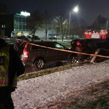 """Šiaurės prospekte avariją sukėlė neblaivus """"Volvo"""" vairuotojas"""
