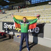 Europos kurčiųjų lengvosios atletikos čempionate – M. Paurio sidabras