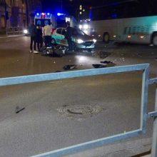 Per avariją Kaune sužalotas motorolerio vairuotojas