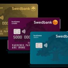 """""""Swedbank"""" pasiūlė naujo dizaino mokėjimo korteles verslo klientams"""