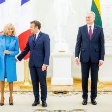 Prancūzijos prezidentui E. Macronui suteiktas VU garbės daktaro vardas