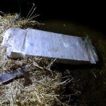 Baltarusių kontrabandininkai cigaretes į Lietuvą plukdė povandeniniu plaustu