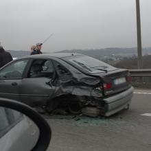 Per avariją ant Č. Radzinausko tilto sužaloti du vyrai