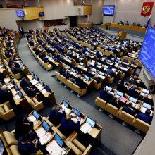 """Rusijos parlamentas po pirmojo svarstymo išplėtė """"užsienio agentų"""" įstatymą"""