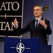 J. Stoltenbergas pakvietė V. Zelenskį apsilankyti NATO būstinėje