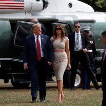 JAV prezidentas D. Trumpas atvyko į Londoną