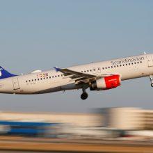 Skandinavijos oro linijos SAS dėl protestų mažina skrydžių į Honkongą skaičių