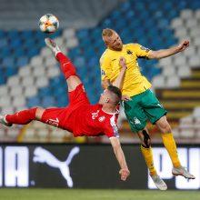 Be ugnelės rungtyniavę Lietuvos futbolininkai patyrė nesėkmę Serbijoje