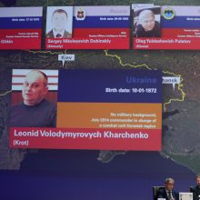 Kas yra keturi vyrai, apkaltinti MH17 lainerio numušimu?