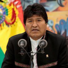 """Bolivijos prezidentas E. Moralesas po rinkimų paskelbtą streiką laiko """"perversmu"""""""