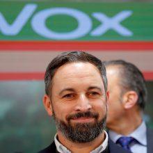 """Ispanijos kraštutinių dešiniųjų partijos """"Vox"""" lyderis nepadės formuoti vyriausybės"""