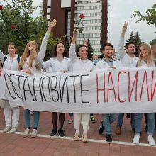 Minske daugiau kaip 130 medikų protestuoja prieš smurtą