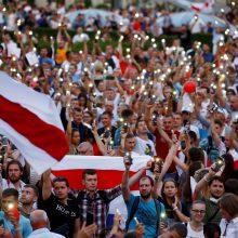 Minsko centre A. Lukašenkos priešininkai surengė naują didelį mitingą