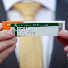 Kinija padovanojo Sakartvelui 100 tūkst. vakcinų nuo COVID-19 dozių
