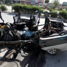 Du sprogimai Kabule pareikalavo aštuonių žmonių gyvybių