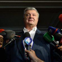 Ukrainos tyrėjai apklausė P. Porošenką kaip liudininką ekonominių nusikaltimų byloje