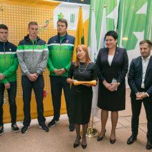 Sportininkus į jaunimo olimpines žaidynes išlydėjo ir ministrė, ir elitiniai atletai