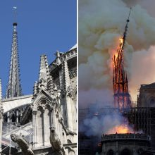 Po gaisro Dievo Motinos katedroje pasaulio vadovai solidarizuojasi su Prancūzija